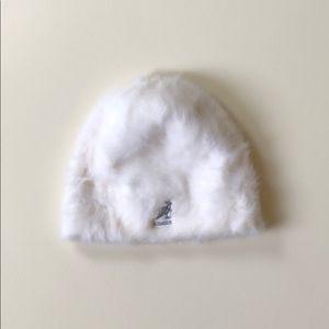 Kangol   White Angora Beanie